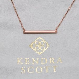 "Kendra Scott ""Kelsey"" Rose  Gold Bar Necklace"